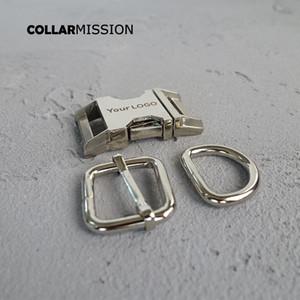 10pcs / lot (fibbia in metallo + regolare fibbia ad anello + D / set) 20 millimetri ambientale fibbia inciso, Forniamo laser servizio di incisione personalizzare LOGO