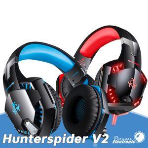 Hunterspider V2 jogos cabeça fone de ouvido Bluetooth fones de ouvido 3,5 milímetros design ajustável plug do adaptador de áudio USB com pacote de varejo