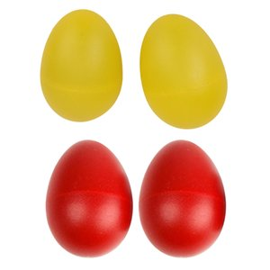 4 шт Ударные Музыкальные инструменты Яйцо Maracas шейкеры подарок игрушки - красный / желтый