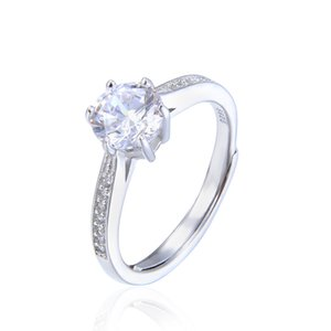 Real 925 Sterling Silver CZ Crystal Diamond RING with LOGO and Original box Fit Pandora style Wedding Ring Engagement Jewelry for Women