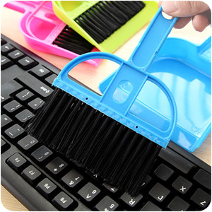 Mini Table with Dustpan Small Broom Set Cleaning Brush Keyboard Brush with Shovel Brush Small Broom