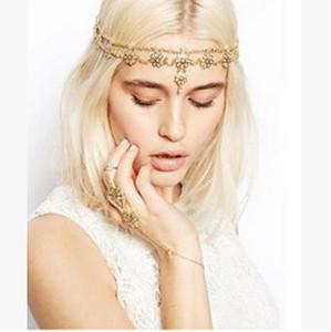 30pcs / lot DIY or simple Bohême perle Capitule chaîne Tassel frontlet Drill Bandeaux Outils de cheveux Accessoires HA930
