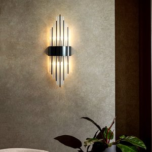 New style contemporary favour w 20cm H 60cm black wall wall lamps living room corridor bedom bedside sofa led wall sconces lights