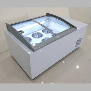 ice cream display cabinet commercial freezer for cold drinks shop store supermarket ice cream display cabinet