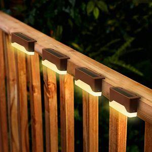Valla Valla Solar Light Cap 16 Paquete Bronce poste ligero impermeable Paso Luz solar para jardín Patio Escaleras Camino