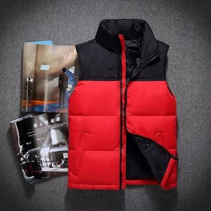 Designer down vest Men down winter down jacket North Polartec vest Male Sports Hooded Jackets Bomber Collar With Zippers Outdoor face vest