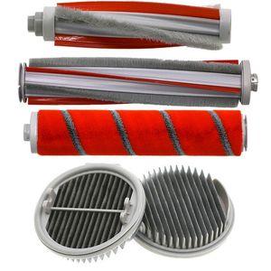 5Pcs / Set Filtros de escovas para Xiaomi Roidmi F8 Handheld Vacuum Cleaner Parts Vassouras dustpans