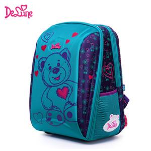 Crianças Escola Delune Saco Grande Capacidade Escola Coruja Urso Backpack Imprimir ortopédicos gravado Meninas Backpack 3-5 Classe Estudantes LY191224