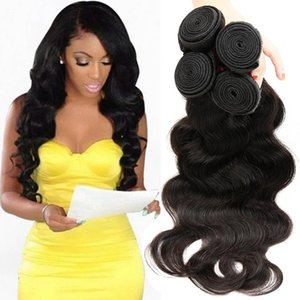 On Sale Wholesales Cheap Items Brazilian Malaysian Indian Peruvian Virgin Human Hair Bundles Natural Black Body Wave Human Hair Weave Bundle