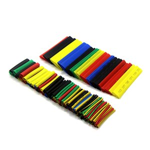 Wiring Accessories Cable Sleeves 164 Pcs Colorful Polyolefin Shrinking Assorted Heat Shrink Tube Wire Cable Insulated Sleeving Tubing Set