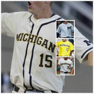 Personnalisé Michigan Wolverines Jack Blomgren Jersey 2 Cam Hart 10 Blake Beers 29 Walker Cleveland 35 Jack White 30 Dillon Nowicki 19 S-3TG