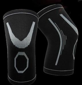 Atlético Jacquard tejer nylon rodillera deportiva protección cálida Codo de fitness rodilleras de fútbol Baloncesto Deportes Fútbol entrenamiento deportivo