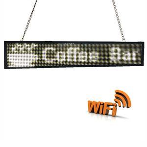 Nuevo panel P5MM a todo color RGB Led SIGN usb + wifi programable mensaje de desplazamiento Panel de pantalla LED para publicidad en tiendas comerciales