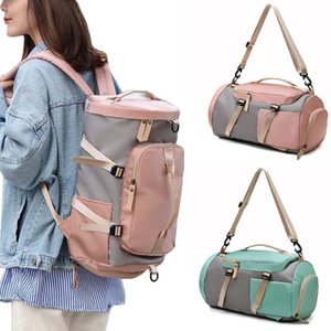 Mulheres da aptidão mochila com sapatos Storage Bag Men Trainingl saco de esportes saco de viagem Laptop Backpack Estudante Bolsas