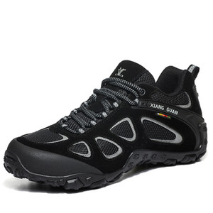 Mens Waterproof Outdoor Sport Climbing Hiking Low-Top Shoes Men Lightweight Running Sneakers Lace-up Non-slip Breathable Trekking Shoes