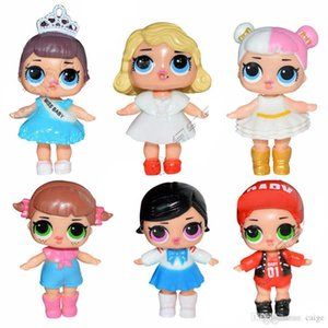 6 stil lol bebek çocuk oyuncak PVC Action Figure bebek dekorasyon Kardeş bebek bebek lol 6 Adet / grup 7 CM