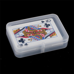 Rectángulo Caja de plástico Caja de almacenamiento de la tarjeta de Poker transparente Piezas de repuesto Hardware Caja de herramientas Empaquetado Organizador Ecológico 1 2bc L1