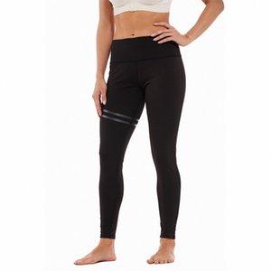Kadın Çizgili Elastik Baskılı Yoga Pantolon Leggings Ofset