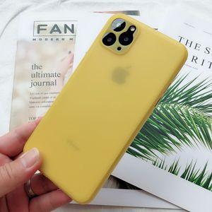 0.3mm ultra-delgada duro del PP para el iPhone 11 MAX PRO X XR XS caso 6 7 8 Plus Proteger la piel translúcida Caso
