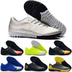 Nouvelle arrivée hommes femmes Mercurial VaporX XII Académie TF chaussures de football Ronaldo Neymar CR7 chaussures de football en plein air