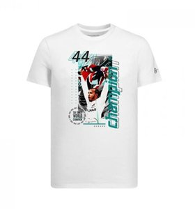 F1 Formula One racing short-sleeved T-shirt Hamilton 2019W10 World Championship sports round neck Tee polyester quick-drying material can be