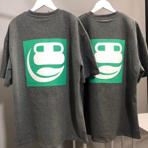 2020FW Grüne Geometrische Printed Dunkelgrau T Fashion Street T-Shirt Männer Frauen Paar Oversieze kurze Hülsen-beiläufiges Paris Sommer HFHLTX041