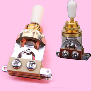3-way Toggle Switch for Les Paul Electric Guitar - Golden w  Cream Tip