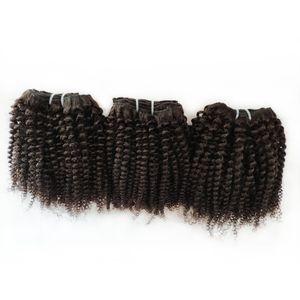 Afro-Haar-brasilianische Jungfrau-Menschenhaar-Doppelschuss 8-12inch Fabrik wholsale und Einzelhandel indisch europäisch Remy Haar 6pc / lot 300g / lot