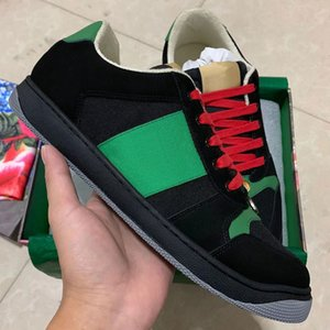 Лучшее качество Новый Screener грязные дизайнерские туфли роскошные натуральная кожа дизайнер кроссовки человек туз вышитые клубника Повседневная обувь для женщин