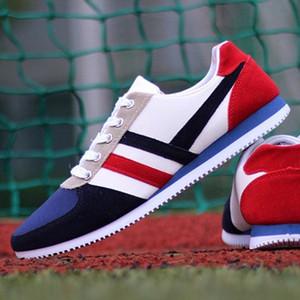 Yürüme Ayakkabı Erkek Sneakers Düz Yaz Tuval Ayakkabı Koşu MUQGEW Erkek Ayakkabı Lace Up Spor loafer'lar Casual Nefes