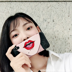 Self-timer face anime 7 8plus mobile phone shell iphoneXS MAX anti-fall applies 6s XR female models tide