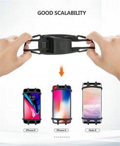 Mini Universal de 360 graus Bicicleta Phone Holder ajustável de silicone anti-choque bicicleta guiador Clipe suporte do telefone GPS Suporte de Montagem