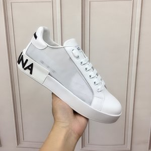 Dolce & Gabbana  2020 di cuoio di lusso delle scarpe da tennis flangia Wrap Casual Shoes Classic Pure White Men donne shoesxshfbcl