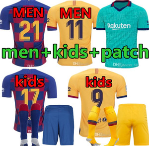 MEN + Kinder-Kit Barca Barcelona Jersey 2019 2020 JUMAS SUAREZ MALCOM PIQUE ARTHUR VIDAL zu Hause weg 3. Fußball-Trikots