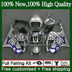 Carenatura per carrozzeria HONDA VTR1000 RC51 Fiamme blu SP1 SP2 00 01 02 03 04 05 06 MF17 RTV1000 VTR 1000 2000 2001 2002 2003 2004 2005 2006