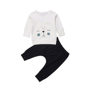 Lovely Bear Toddler Baby Boys Girls Warm Winter Tops T-shirt Pants Outfits Clothes Set