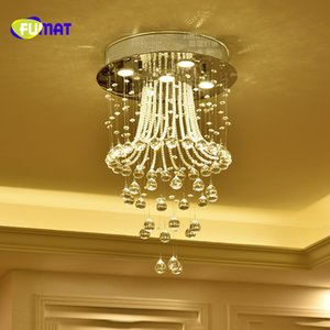 FUMAT Modern Personality K9 Crystal Balls Stainess Steel LED Ceiling Lamp Luxury For Dining Room Foyer Kitchen Bedroom Lightings