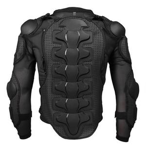 Protección del cuerpo de la chaqueta de la armadura de la motocicleta para el antebrazo del pecho de la espina dorsal para hombre negro