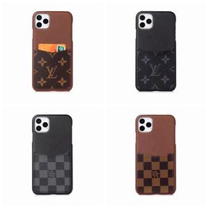 Teléfono de lujo del cuero del diseñador de la contraportada para el iphone Oficial 11 Pro X max XS Card Case Max XR Con 6s para el iPhone 6 7 8 más GooPhone X A02