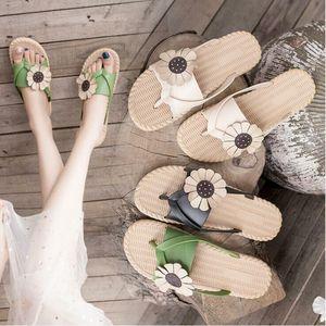 Summer Sandals Flower non-slip Flats Flip Flops Fashion Outdoor Sandals Slippers Beach Flower Sandals Women Sandal Designer CYP193