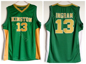 Uomo Brandon Ingram Jersey 13 Green Basketball High School Kinston Maglie Uniforme sportiva In puro cotone Alta qualità