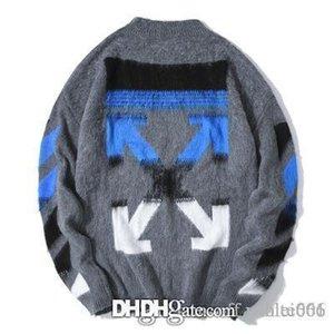 OW mens concepteur design de mode gris automne hiver pull maille haute qualité pull chaud lâche décontracté