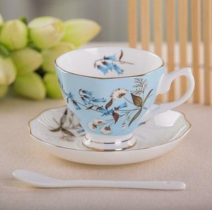 Bone china English Flower Tea Cup Coffee Mug Porcelain Saucer Ceramic Set NEW
