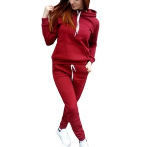 2019 Autumn New Arrival Women Hoodies Pants Clothing Set Winter Sportsuits Female Solid Tracksuit Sports Loose Sweatsuits