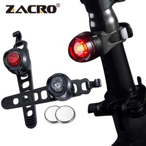 Zacro велосипед Велоспорт Передний Задний Задний шлем Красный фонариков 3 Режимы безопасности предупреждение лампа Водонепроницаемый Велоспорт безопасности свет
