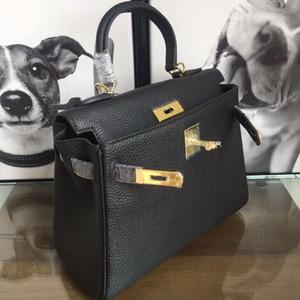 Высокое качество 20-25-28-32см Togo Taurillon Clemence Кожаные сумки из Togo Taurillon, закрытие блокировки, золотое оборудование поставляется с мешком для пыли