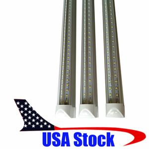 ABD Stok + Led Tüpler V Şeklinde 4ft 5 ft 6 ft 8ft Cooler Kapı Led Licht Tüpler T8 Çift Taraflı SMD2835 Led Floresan Lambalar AC 85-265V luz