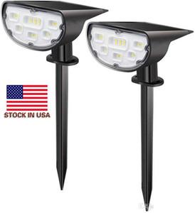 Solarbetriebene 14 LED-Beleuchtung Buried Boden U-Bahn-Licht für Outdoor-Pfad Garten-Rasen-Landschaft Dekoration Lamp - Vektor In US