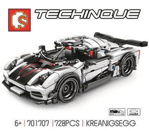 Assembled building blocks racing technology puzzle ABS assembled model building blocks toys