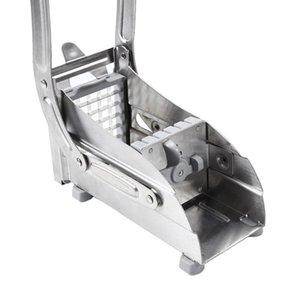 Paslanmaz Çelik Patates Kızartması Kes Fry Cips Şerit Patates Sebze Doğrama Küp şeklinde kesme makinesi Kesme Makinası 2 Bıçaklar Farklı Delik